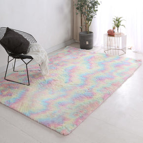Colourful Soft Comfortable Geometric Plush Shaggy Rugs Bedroom Living Room Bedside Rug Floor Mat 08