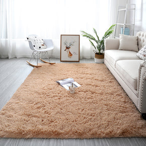 Light Beige Colour Modern Plain Carpet Bedroom Living Room Sofa Rugs Soft Plush Shaggy Rugs