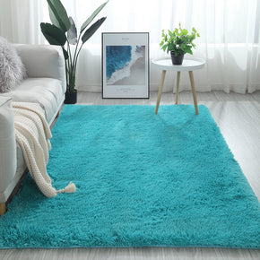 200*300cm Light Blue Colour Modern Plain Carpet