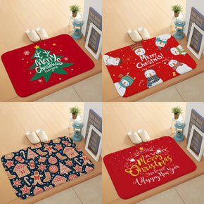32 Styles Floormat for Christmas Holiday Kitchen Entryway Bathroom Door Mat Christmas Decorations Gift