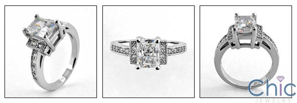 Anniversary 1.5 Radiant Ct Pave Cubic Zirconia Cz Ring