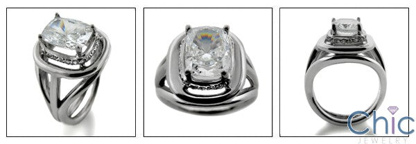 Anniversary Radiant Cushion 3 Ct Ct Pave Cubic Zirconia Cz Ring