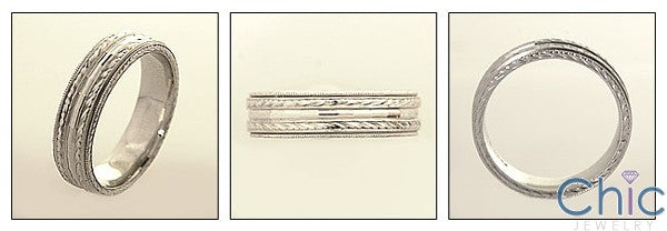 Mens 6mm Platinum Band