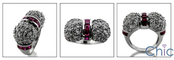 Estate Ruby Channel Ct Pave Cubic Zirconia Cz Ring