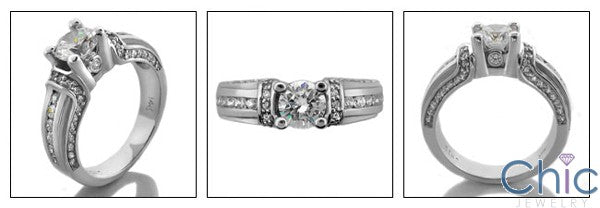 Engagement Round 0.75 Channel small round Cubic Zirconia Cz Ring
