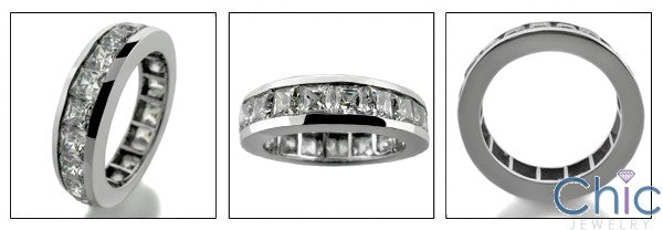 Mens Cubic Zirconia Eternity Ring