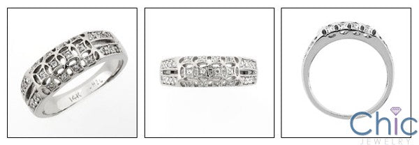 Fine Jewelry .30 TCW Pave Wedding Cubic Zirconia Cz Ring