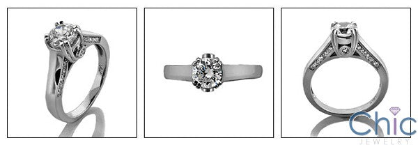 Engagement Round .75 Ct Center - Smoothandd Cubic Zirconia Cz Ring