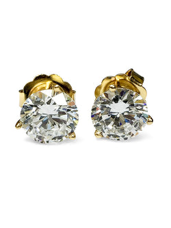 5 Ct Round Stone Martini Cubic Zirconia CZ Earrings