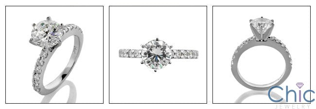 Engagement 1.5 Round 6 Prong Cubic Zirconia Cz Ring