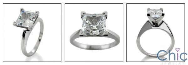Solitaire 1.5 High end CZ Princess Cubic Zirconia Cz Ring