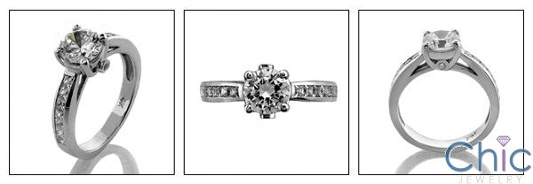 Engagement Round 1 Ct . Center princess channel Cubic Zirconia Cz Ring