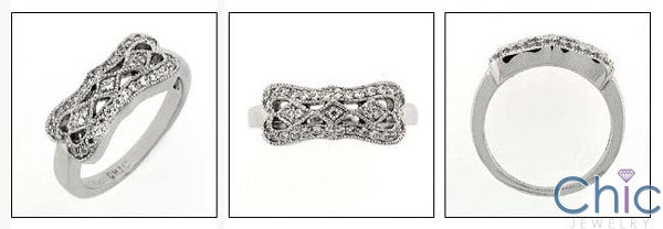 Anniversary 0.50 TCW Pave Set Cubic Zirconia Cz Ring