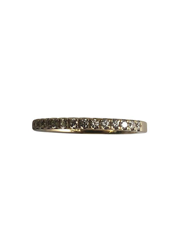 2mm wedding band with pave set cz