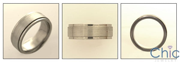 Mens Titanium 7mm Band