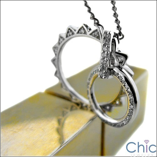 Cubic Zirconia Cz Sun Eternity Circle 1 Ct Pendant