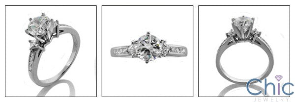 Engagement Round Center 1 Ct princess Cubic Zirconia Cz Ring