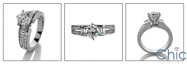 Engagement 1 Ct Round .64 TCW Cubic Zirconia Cz Ring