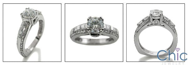Engagement .75 Diamond CZ Euro Shank Cubic Zirconia Cz Ring