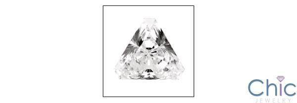 0.75 Triangle Trillion Cubic Zirconia CZ Loose stone