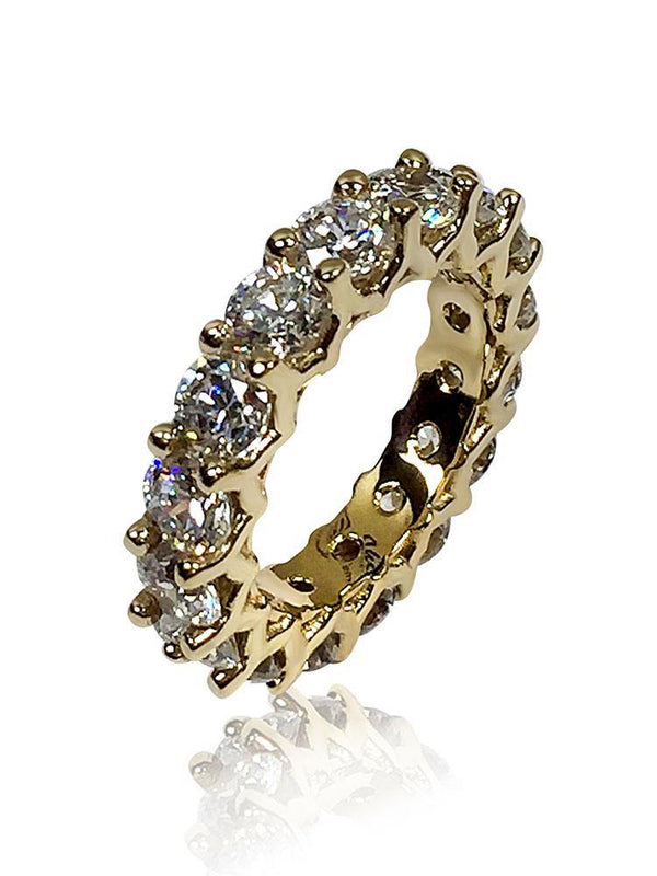 5 Carat Total Weight Round Cubic Zirconia Eternity Band 14K Gold