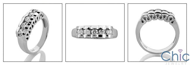 Wedding .40 Round Channel 5 Cubic Zirconia CZ Band