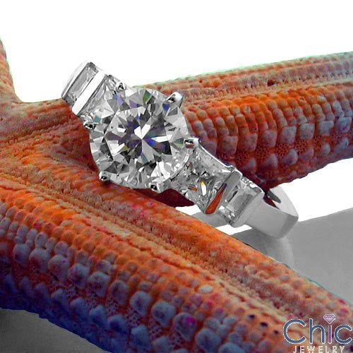 Engagement Round 1 Ct Cneter Ct channel Cubic Zirconia Cz Ring
