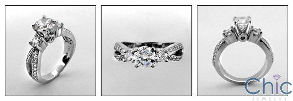 Engagement Brilliant Round CZ 1 Ct Cubic Zirconia Cz Ring