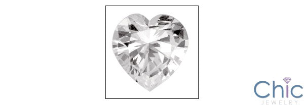 Heart Shape 1 Ct Cubic Zirconia CZ Loose stone
