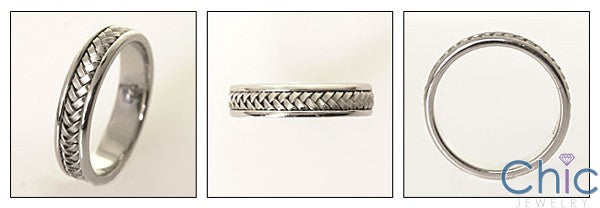 Mens Braided Wedding Band