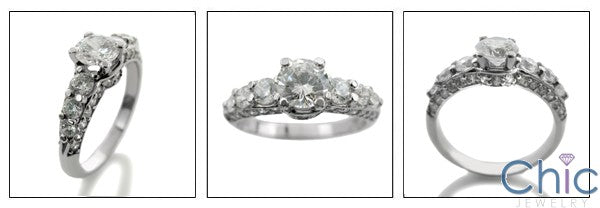 Engagement Round 0.65 Ct Center Share Prongs Cubic Zirconia Cz Ring