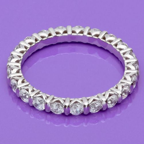 Eternity 1.5 Ct Round Channel Cubic Zirconia Band