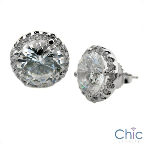 7 Ct Round Cubic Zirconia CZ Earrings