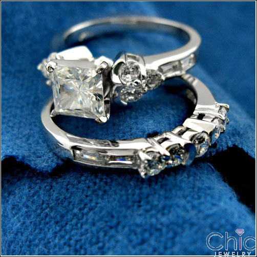 Engagement Princess 1 Ct channel Cubic Zirconia Cz Ring