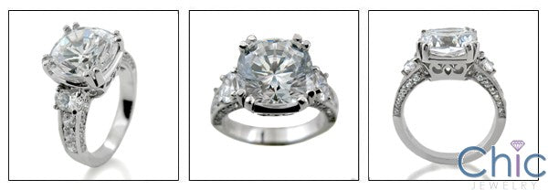 6 Ct Rounded Cushion Cubic Zirconia Ring