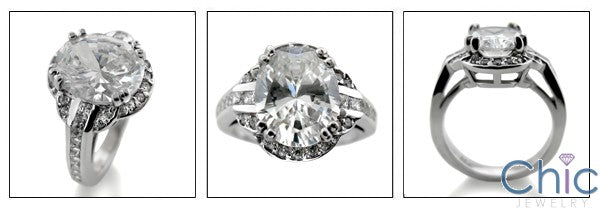 Anniversary Oval 4 Ct Halo Cubic Zirconia Cz Ring