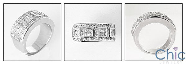 Fine Jewelry 1.5 TCW Invisible Pave Cubic Zirconia Cz Ring