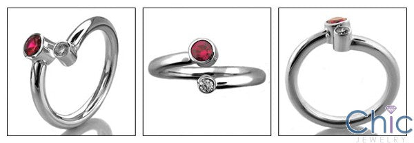 Fine Jewelry Ruby Ct Diamond CZ Bandezel Tube Cubic Zirconia Cz Ring