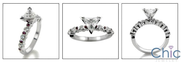 Engagement 0.75 Triangle Center Cubic Zirconia Cz Ring