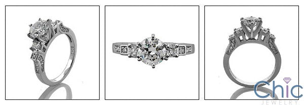 Engagement Brilliant 6 prong Cubic Zirconia Cz Ring
