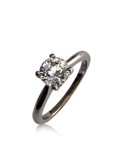 Simple Solitaire Ring 1 carat Round Cubic Zirconia
