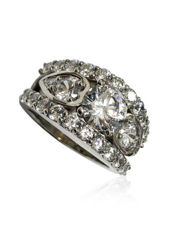 1.5 Carat Center  Highest Quality Round Cubic Zirconia Stone ring