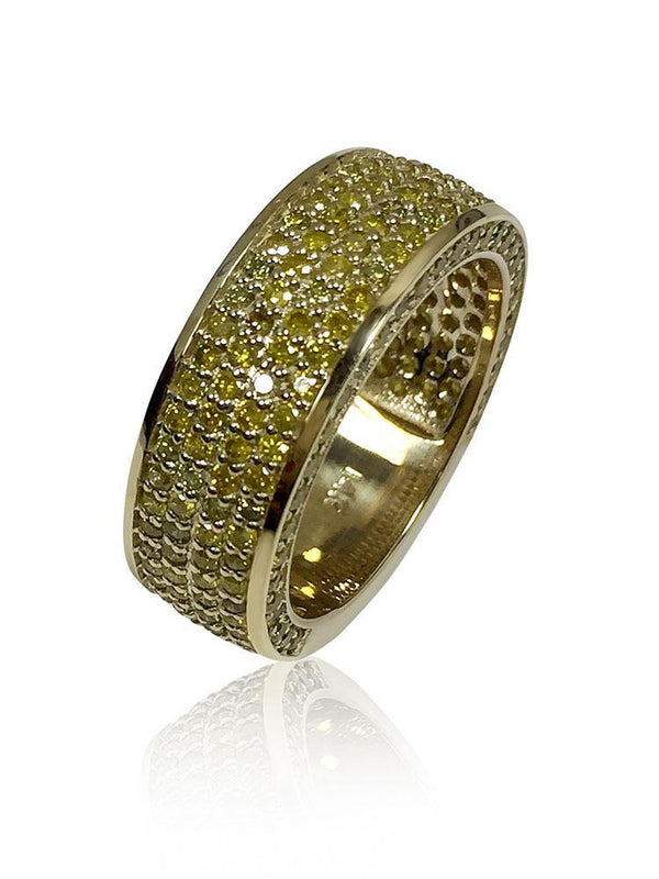 Wedding Band For Him 14k Yellow Gold