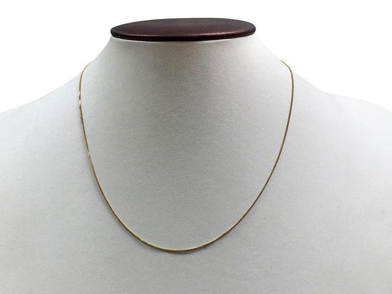 Tiffany Style Chain in 14K White Gold or 14K Yellow Gold
