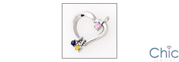 Cubic Zirconia Cz Mo rs Day Gift Birth Heart Pendant