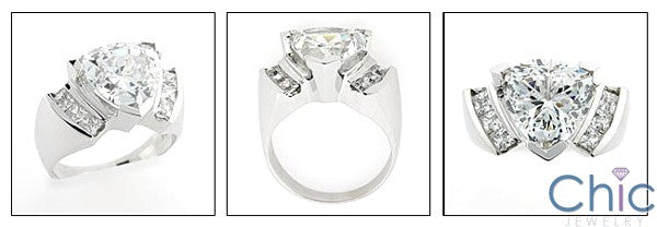 Anniversary 6 Ct Triangle Channel Princess Cubic Zirconia Cz Ring