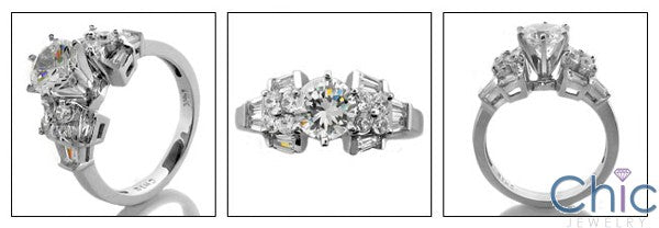 Engagement 2.25 Ct Bridal Cubic Zirconia Cz Ring