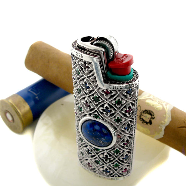 Sterling Silver Lighter Over Lapis Lazuli