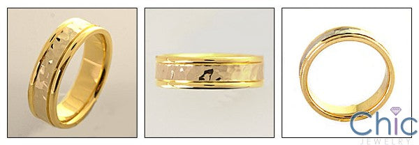 Mens 6mm Wedding Two Tone Comfort Fit Band