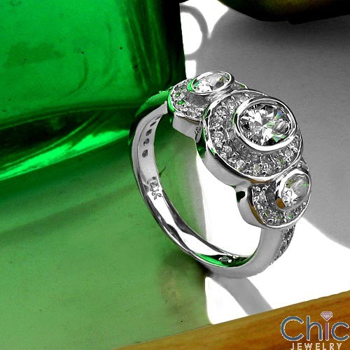 Anniversary Oval Bezel Ct Halo Cubic Zirconia Cz Ring